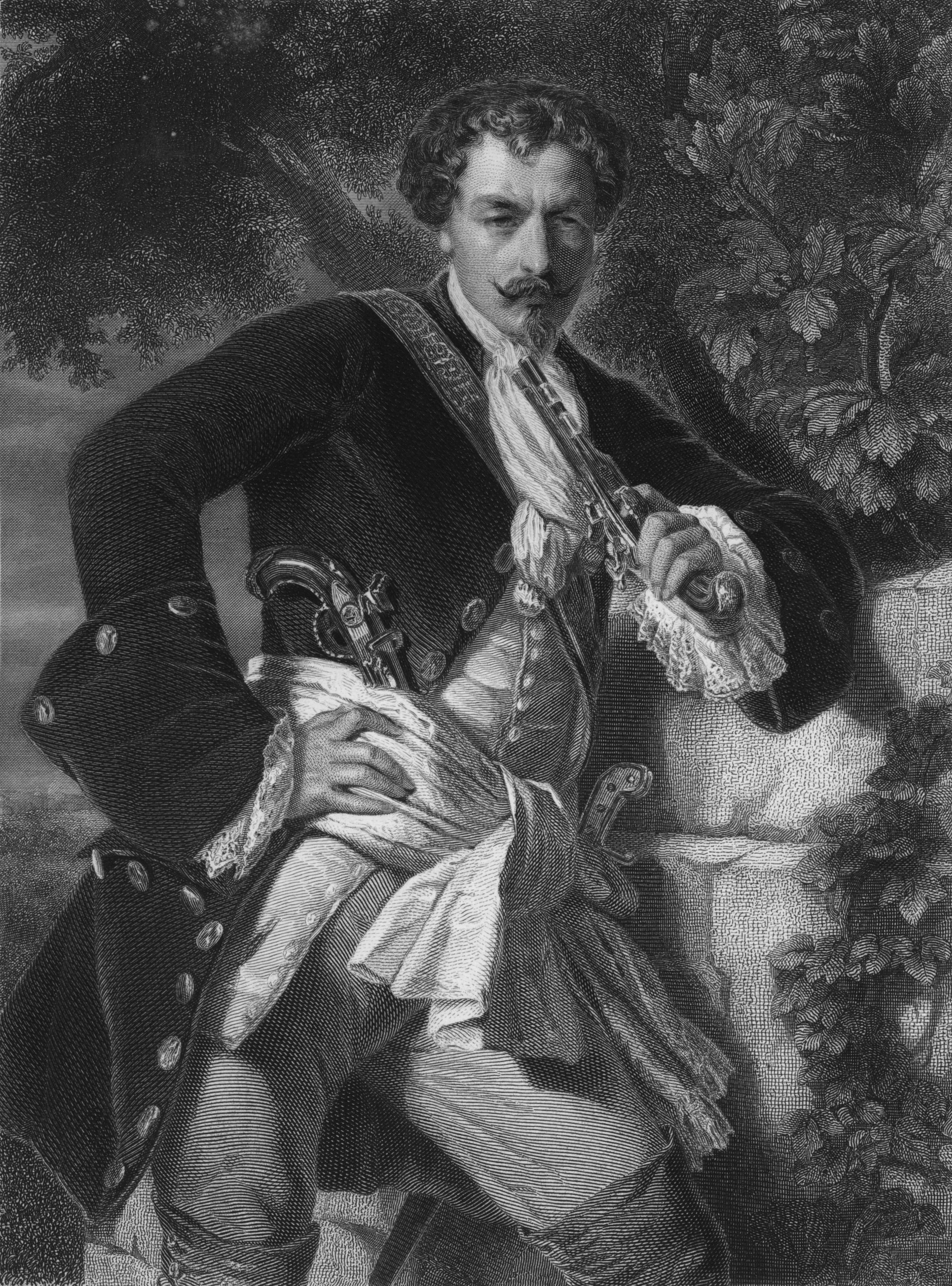 Auf dem Bild zu sehen ist Karl von Moor aus Friedrich Schiller- Die Räuber.